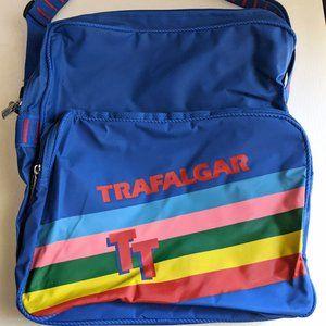 Retro Rainbow striped Trafalgar bag carry on lugga